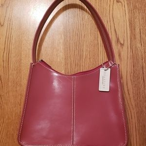 Kenneth Cole Reaction Small Red Leather Hobo Purse